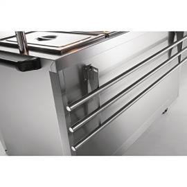 Lincat Panther Tray Slide for P8B6 and P8P6 Stainless steel construction. Dimensions: 25(H)x 2100(W)x 320(D)mm