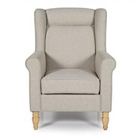 Modern Cozy Armchair - The Perfect Spot To Relax After A Tiring Day - Comfy Fabric Upholstered (Latte)
