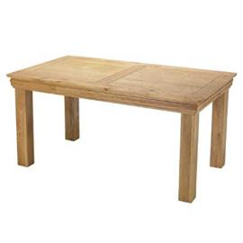 Breton Rustic Oak Large Dining Table - Furniture