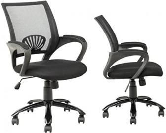 Black Ergonomic Mesh Computer Office Desk Task Chair w/Metal Base H12 Sets of 2 by BestOffice