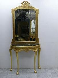 mirror consol baroque with marble black AwKs0184Sw