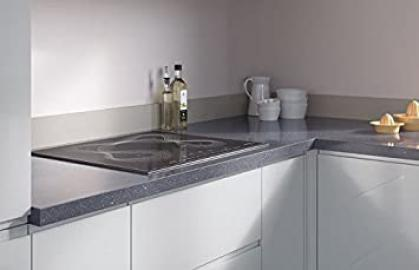 Egger Square Edge Cosmic Grey Effect Kitchen Bathroom Laminate Worktop Offcut Work Surface 38mm Breakfast Bar - 3m x 1200mm x 8mm Splashback