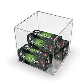 [Pack of 10] Clear Acrylic Perspex Box Display Case - 375mm Square