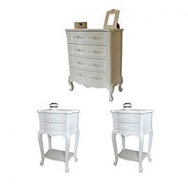 Rose Range - Furniture Bundle, Chest of Drawers & 2 Bedside Tables