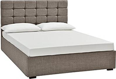150cm King Size Isabella Modern Bed in Grey Fabric