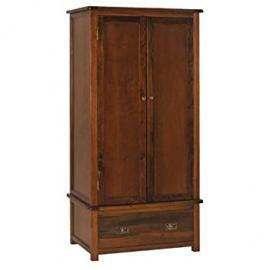 BOSTON 2 door/1 drawer wardrobe in dark antiqued pine
