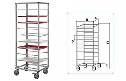 Horeca Products & Services Aluminium Cart 600x 400mm 10Levels