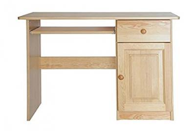 Desk solid, natural pine wood Junco 190 - Dimensions 75 x 110 x 55 cm