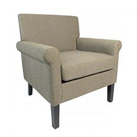 Shankar Hamilton Herringbone Brown Fabric Armchair