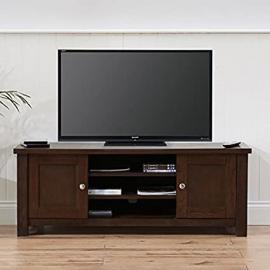 Sandringham Solid Wood TV Unit (Colours Oak/Dark Oak Rustic)