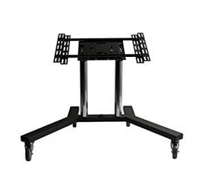 """B-Tech Flat Screen Trolley 65"""" Portable Black,Chrome - flat panel floor stands (Black, Chrome, Portable flat panel floor stand, 165.1 cm (65""""), Public display, 70 kg, 75 x 75 mm)"""