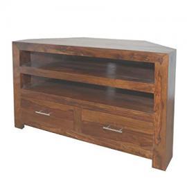 Cuba Sheesham Corner TV Cabinet - Furniture