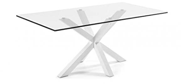 The Form-ARYA Table 200 X 100 Epoxy C Clear Glass White