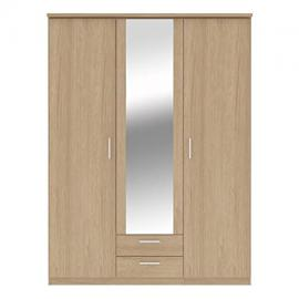 Bronte 3 Door 2 Drawer Mirrored Wardrobe