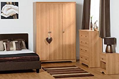 Regent 3 Door 3+2 Drawer Bedroom Set in Teak Effect Veneer