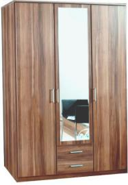 Wimex Omega 3-Piece 3 Door Plus 2-Drawer Wardrobe, 199 x 58 x 135 cm, Walnut