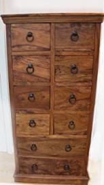 Mercers Furniture Indian Jali 7-Drawer Arman Chest - Indian Rosewood