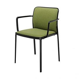 Kartell Audrey Soft armchair with Texture Black, Military Green
