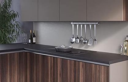 Egger Contemporary Black Effect Kitchen Bathroom Laminate Worktop Offcut Work Surface 40mm Breakfast Bar - 3m x 1200mm x 8mm Splashback