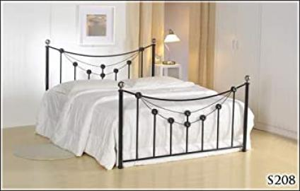 BRAND NEW 5ft METAL BLACK KING SIZE BED FRAME AND SLUMBER SLEEP ORTHOPAEDIC ORTHO MATTRESS