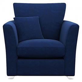 Cavendish Upholstery Richmond Chair High Back, Fabric, Velvet Blue