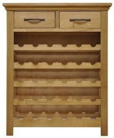 London Light Oak Wine Cabinet / Solid Oak Kitchen Storage Unit / Oiled Finish