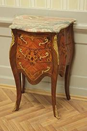 baroque chest of drawers veneer beige marble