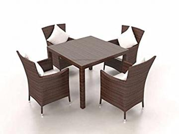 CERES S Rattan Garden Dining Set (Brown)