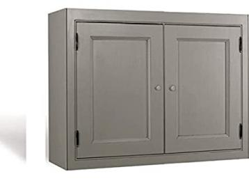 Kitchen Units Kitchen Wall Unit 800mm W 2 Doors with Shelf and Tongue and Groove Backboards Solid Wood VL5032