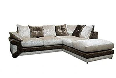 Blink Right Hand Corner Sofa, Fabric, Brown/Beige