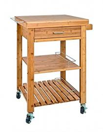 Kitchen Trolley Fuller II Bamboo 91cm