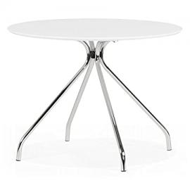 Kokoon dt00190wh Bella Dining Table Metal White 100 x 100 x 75 cm
