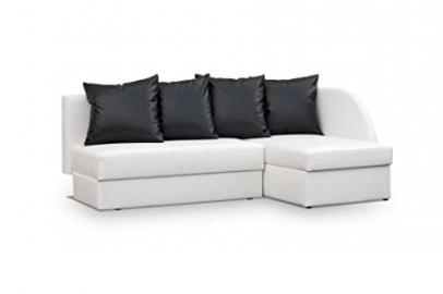 White Faux leather Corner Sofa Bed - Viola - any clours - couch - sofa - bed - beds - 2 MAN DELIVERY