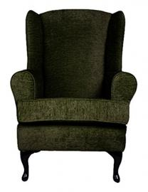 Cavendish Furniture Extra Wide Cavendish Orthopaedic High Seat Chair, Fabric, Moss Green, 19-Inch