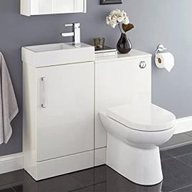 Liberty Bathroom Furniture Suite - inc. WC Toilet Unit, Back to Wall Pan & Vanity Basin Sink Cabinet Unit