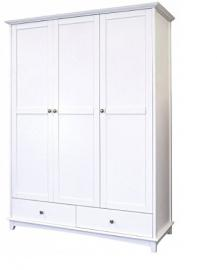 Large Modern 3 Door White Wardrobe - Offers 2 Drawers And 3 Doors - The Perfect Bedroom Clothing Storage - Will Look Good In Any Bedroom