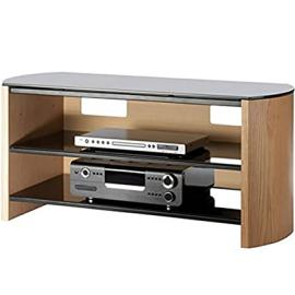 Light Oak Wood Veneer TV Stand for screens up to 50 inch