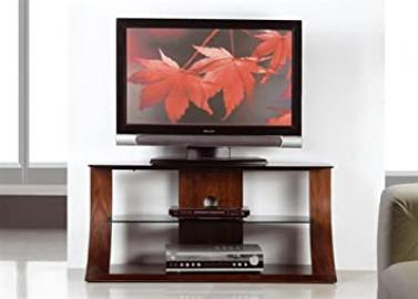 Jual Curved Walnut TV Stand