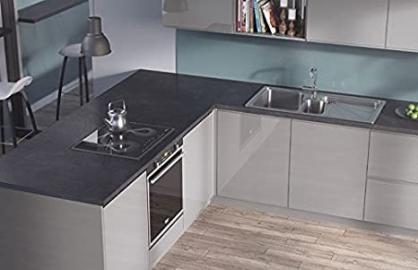 Egger Contemporary Pegasus Anthracite Effect Kitchen Bathroom Laminate Worktop Offcut Work Surface 40mm Breakfast Bar - 3m x 1200mm x 8mm Splashback