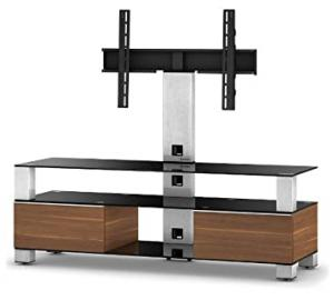 Sonorous MD 8143-B-INX-WNT Ready Assembled Walnut Cabinet for TV's Up To 65 inch