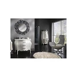 Mobile bathroom furniture white lacquered swarovskidesign Veneto - As Photos