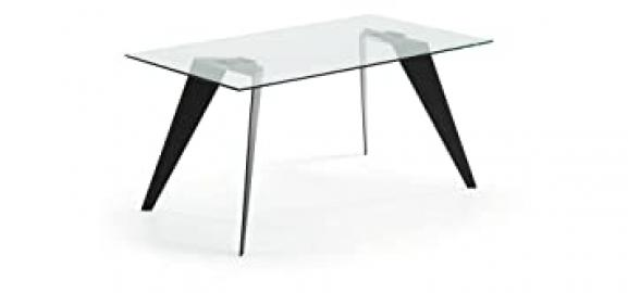 The Form-Send NACK Table 160 X 90 Epoxy C07 Black Clear Glass