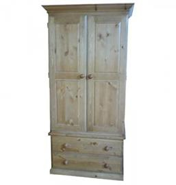 Wye Pine Forest Gent's Wardrobe - Finish: Unfinished - Stain: Waterbased