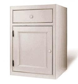Kitchen Units Kitchen Base Unit 500mm 1 Door & 1 Drawer with Shelf and Tongue and Groove Backboards Solid Wood VL5041