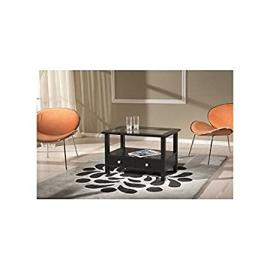 Rectangular Low Coffee Table Black Lacquered