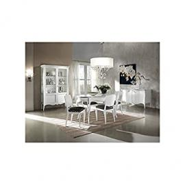 Oval Table 160All Modern White Lacquered Solid Wood X Room Living Room–As Photos White and Ivory