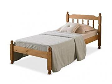 3'0 COLONIAL SPINDLE BED IN WAXED PINE WITH MEMORY FOAM 5000 MATTRESS