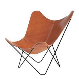 Pampa Mariposa Butterfly Chair dark brown/Polo 66/frame black