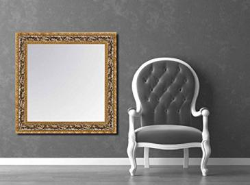 Wall classic wood mirrors: model TAJO. Colour: Silver/Gold.