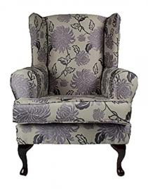 Cavendish Furniture Extra Wide Luxury Orthopaedic High Seat Chair, Fabric, Charcoal, 19-Inch